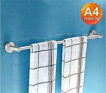 Handtuchhalter Verlängerte Raum Aluminium Bad Handtuchhalter Handtuchhalter Bad-Accessoires Bad Handtuchhalter einpoligen Single Badezimmer Handtuchhalter ( Farbe : A4 , größe : 70cm )