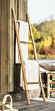 Handtuchleiter aus Bambus, 115 cm hoch, 4