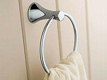 Handtuchring Badezimmer, Silber (Farbe : Silber)