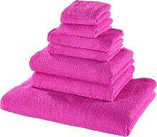 Handtuchset 7-tlg., pink