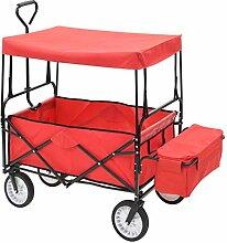 Handwagen Gartenwagen Bollerwagen mit Dach und