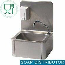 Handwaschbecken Edelstahl mit Kniebedienung und