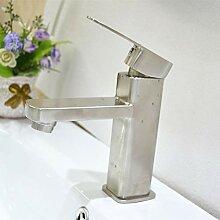Handwaschbecken, heißer und kalter Wasserhahn,
