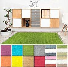 Handweb Flicken-Teppich aus Baumwolle |
