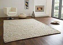 Handweb Teppich Ammersee in Beige aus 100%