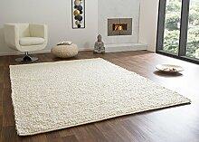 Handweb Teppich Ammersee in Weiß aus 100%
