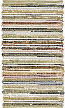 HANDWEBTEPPICH 60/110 cm Multicolor