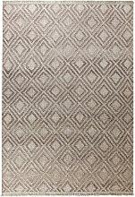 HANDWEBTEPPICH 60/110 cm Sandfarben, Taupe