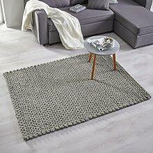 Handwebteppich in Grau ca.120x170cm