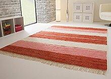 Handwebteppich Indira Colour in Rot - Teppich aus