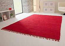 Handwebteppich Indira in Rot - Handweb Teppich aus
