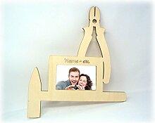 Handwerker Bilderrahmen Tool Werkzeug lustige witzige Männer-Geschenk mit Namen, für Männer Werkstatt Arbeits-Zimmer Büro Namens-Geschenk