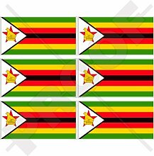 Handy-Aufkleber mit Simbabwe-Flagge, Afrika, Rhodesien 40,6cm, Vinyl, 6 Stück