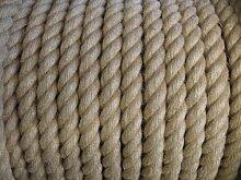 Hanf natürlichen Seil (28mm) Sonnendeck, Garten, Wassersport, Preis ist pro Meter