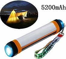 Hangang Tragbare Outdoor Camping Laterne Taschenlampe mit Helligkeit verstellbar, 5200mAh Power Bank, Mückenschutz, Camping Lampe für Notfall, Wandern, Angeln, wasserdicht, 6Modi