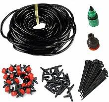 HangboughtEU Micro Flow Drip Bewässerung Bewässerung Kits Drip Bewässerungssystem für Garten Rasen Terrasse Landwirtschaft Gewächshaus 25m Schlauch