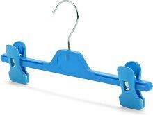 Hangerworld 10 Kunststoff-Clip Kleiderbügel für Kinder, Hellblau - ca. 28 cm