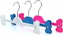 Hangerworld 10 Kunststoff Clip Kleiderbügel für