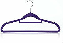 Hangerworld 10 Samtbeflockte Kleiderbügel 42cm
