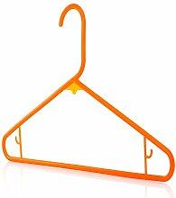 HANGERWORLD 20 Orangefarbene Kunststoff