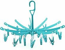 HANGERWORLD 3 Blaue Kunststoff Mini Wäschespinne