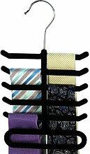 HANGERWORLD 3 Krawatten Kleiderbügel für 10