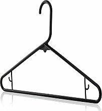 HANGERWORLD 40 Schwarze Kunststoff Kleiderbügel