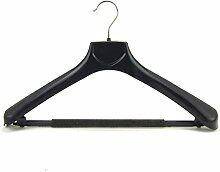 HANGERWORLD 5 Kunststoff Kleiderbügel Schwarz