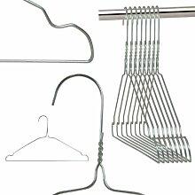 Hangerworld - Drahtkleiderbügel mit Einkerbungen, verzinkt, 50 Stück - Silber - 41cm
