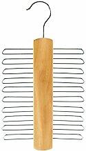 HANGERWORLD Holz Krawattenbügel 20 Krawatten Holz