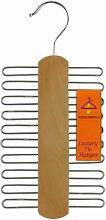 Hangerworld - Krawattenbügel mit 20 Haken - Naturfarben / Metall - 30cm
