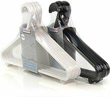 Hangerworld - Kunststoff Kleiderbügel mit Hosensteg, 20 Stück - Schwarz und Weiß - 36cm