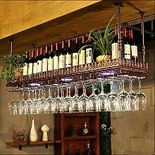 Hanging Red Wine Stemware Racks, Deckenmontage