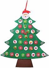 Hanging Xmas Tree Countdown-Kalender, 24 Tage