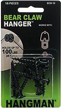 Hangman Produkte mit zwei Spitzen Bearclaw Kleiderbügel 1,25–Schwarz, andere, mehrfarbig