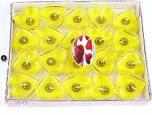 HANGWEI Herzförmige Rauchfreie Gelee Kerze