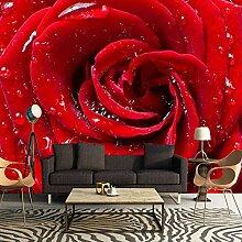HANHUAN Größe Romantische Rote Rose Fototapete