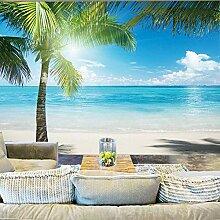 HANHUAN Strand Coconut Grove Foto Tapeten Wandbild