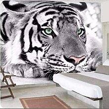 HANHUAN Tapete Grau Tier Tiger Wandbild