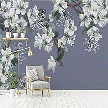 HANHUAN Tapete Magnolia Blume Handbemalte Blumen