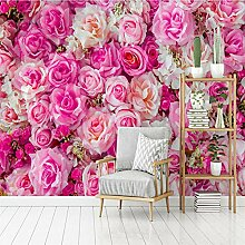 HANHUAN Tapete Moderne Rosa Rosen Tv Hintergrund