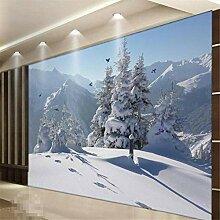 HANHUAN Tapete Winter Schnee Wandhauptdekor