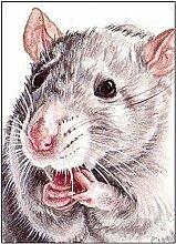 Hanjiming Volle runde Diamant malerei wenig Maus