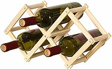 hanksky Kleines faltbares Weinregal aus Holz für