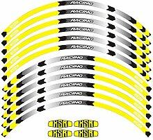 HANLING- Motorrad-Rad-Aufkleber Stripe reflektiven
