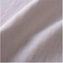Hans-Textil-Shop Stoff Meterware Grau Leinen