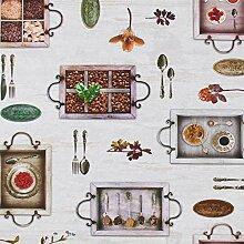 Hans-Textil-Shop Stoff Meterware Kaffeehaus