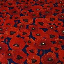 Hans-Textil-Shop Stoff Meterware Mohnblumen - 1