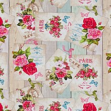 Hans-Textil-Shop Stoff Meterware Rosen Paris