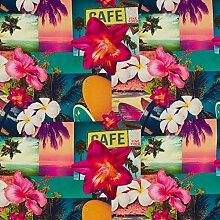 Hans-Textil-Shop Stoff Meterware Tropical Blumen